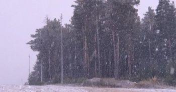 Yoğun kar yağışı etrafı beyaza bürüdü