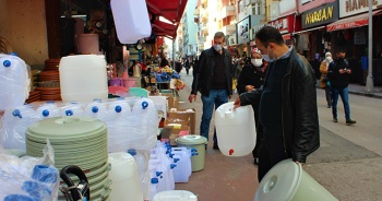 Su kesintisi öncesi bidon satışları patladı