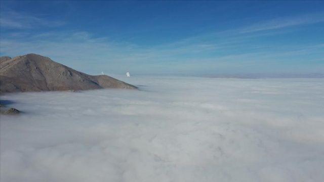 Kahramanmaraş'ta oluşan sis tabakası görsel şölen sundu