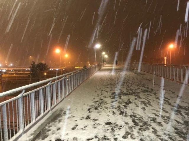 İstanbul'da kar yağışı etkili oldu