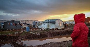 İdlib'de kış şartları kamplardaki sivillerin yaşamını zorlaştırıyor