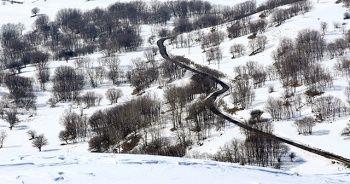 Muş'ta kar manzarası
