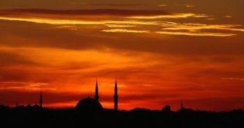 Taksim'de gün batımı