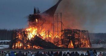 Koronaya karşı kale yaktılar