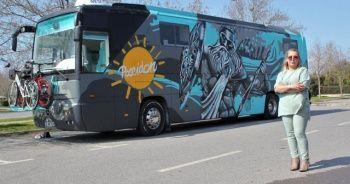 İlk defa Türkiye'de bir kadın otobüs karavan tasarladı
