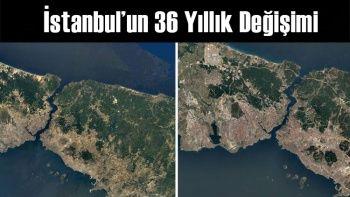 Google Uydusundan İstanbul'un 36 Yıllık Değişimi