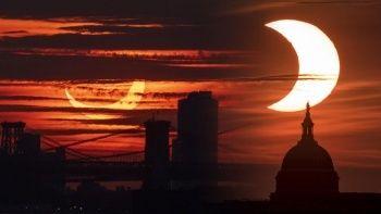 Akıl Çemberi Güneş tutulmasından manzaralar
