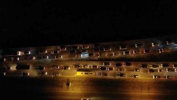 Kırıkkale'de 15 kilometrelik araç kuyruğu