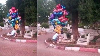 Baloncunun mezarlık ziyareti: Sebebi yürekleri dağladı