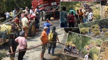 Vatandaşlardan yangın zinciri: Kimisi şişeyle söndürdü, kimisi hortumu tuttu