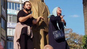 Uyuşturucu bağımlısı adamın şiddet mağduru eşi ve annesinden bıçaklı protesto
