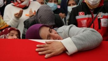 Suriye şehidi için helallik alındı