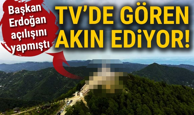 Başkan Erdoğan'ın açılışını yaptığı zirvedeki cami, dizilerin vazgeçilmezi oldu
