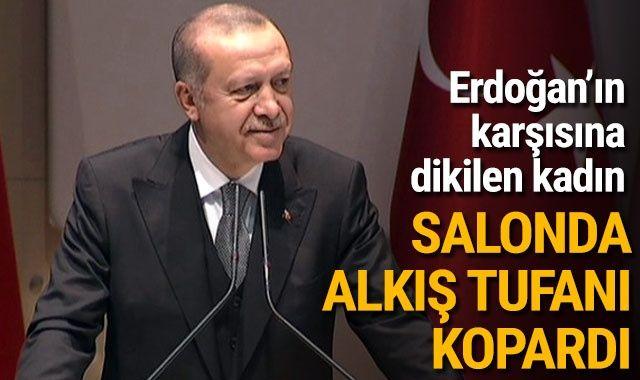 Cumhurbaşkanı Erdoğan ile AK Partili kadın arasındaki diyalog alkış tufanı kopardı