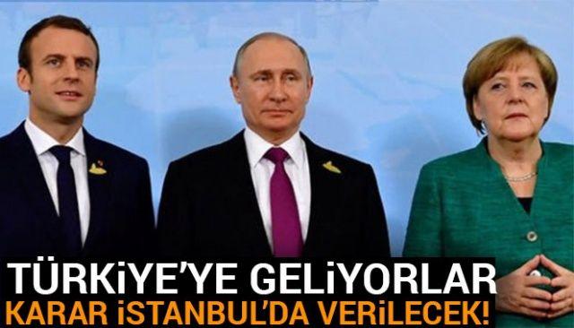 Erdoğan-Putin-Macron-Merkel zirvesinin tarihi açıklandı!