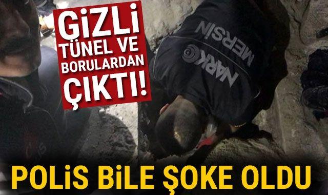 Gizli tünel ve borulardan çıktı! Polis bile şoke oldu…