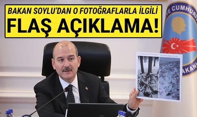 İçişleri Bakanı Soylu'dan o fotoğraflarla ilgili flaş açıklama