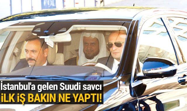 Kaşıkçı cinayeti için İstanbul'a gelen Suudi savcının ilk işi bu oldu
