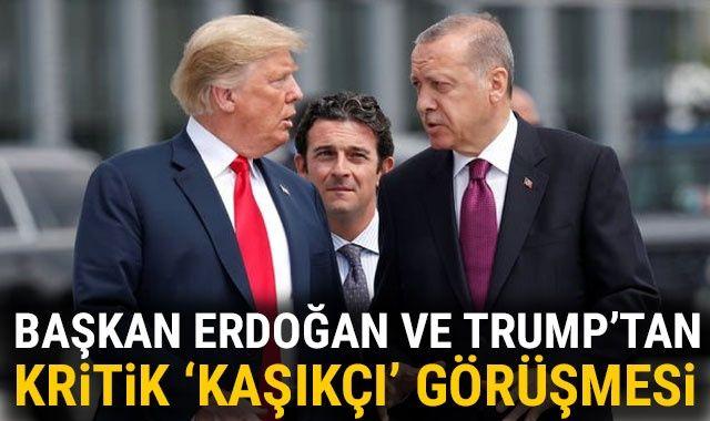 Son Dakika: Cumhurbaşkanı Erdoğan ABD Başkanı Trump ile görüştü