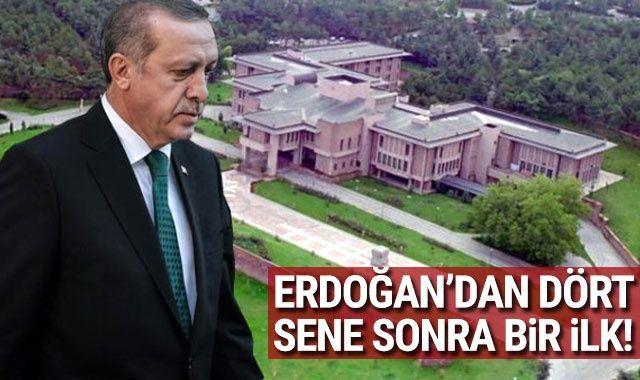 Son dakika! Cumhurbaşkanı Erdoğan, dört sene sonra ilk kez Çankaya Köşkü'nde