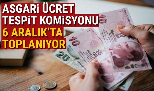 Asgari Ücret Tespit Komisyonu 6 Aralık'ta toplanıyor