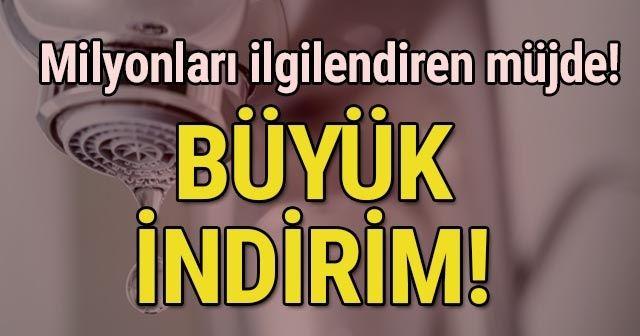 İstanbul'da su fiyatına indirim