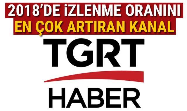 2018'de izlenme oranını en çok artıran kanal TGRT Haber