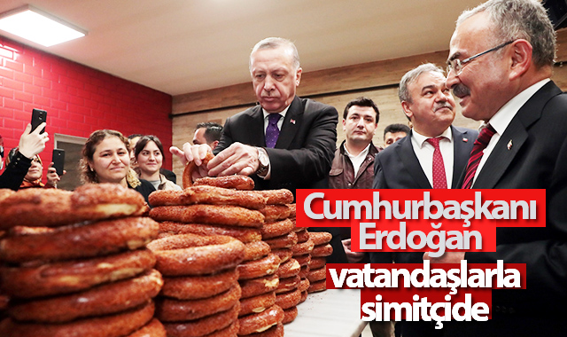 Cumhurbaşkanı Erdoğan simitçide vatandaşlarla bir araya geldi