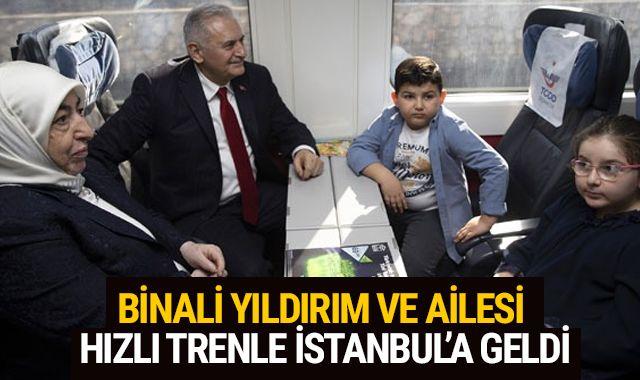 Binali Yıldırım İstanbul'a hızlı tren ile gitti