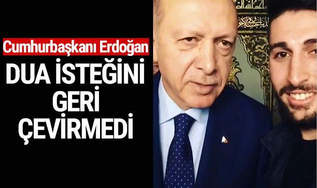 Cumhurbaşkanı Erdoğan, Bursalı gencin isteğini geri çevirmedi