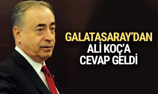 Galatasaray'dan Ali Koç'a cevap geldi!