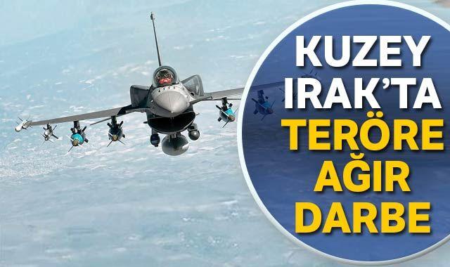 Irak'ın kuzeyindeki hava harekatında terör hedefleri imha edildi