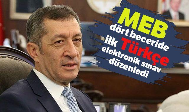 MEB dört beceride ilk Türkçe elektronik sınav düzenledi