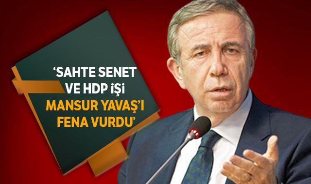 Sahte senet ve HDP işi Mansur Yavaş'ı fena vurdu..