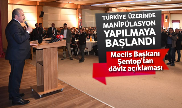 """TBMM Başkanı Şentop'tan döviz açıklaması: """"Türkiye üzerinde manipülasyon yapılmaya başlandı"""""""