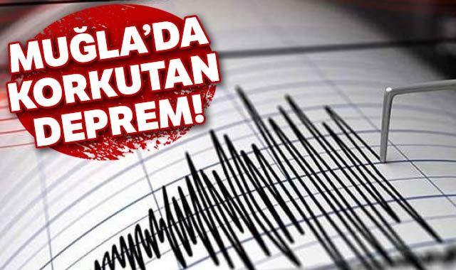 Muğla'da 4.3 büyüklüğünde deprem |Son depremler...