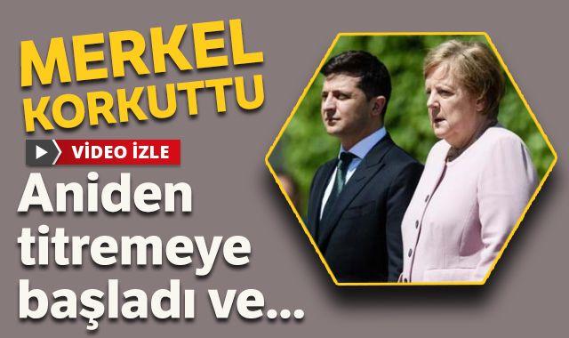 Angela Merkel korkuttu