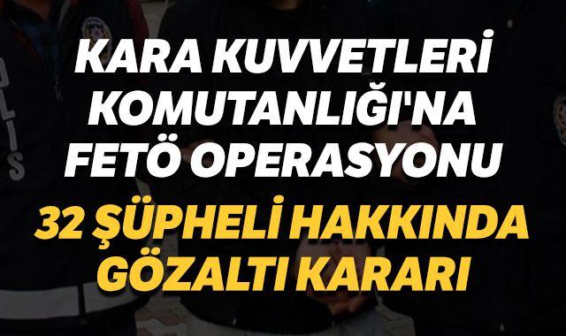 Ankara'da FETÖ operasyonu:  32 gözaltı
