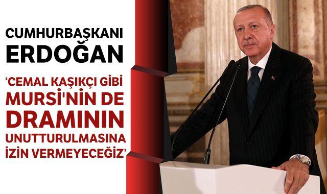 Cumhurbaşkanı Erdoğan: 'Cemal Kaşıkçı gibi Mursi'nin de dramının unutturulmasına izin vermeyeceğiz'