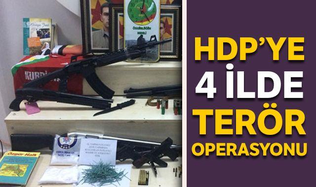 HDP'ye 4 ilde terör operasyonu