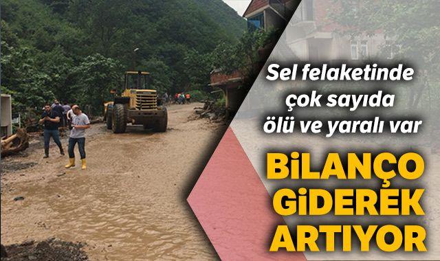 Trabzon'un Araklı ilçesinde yaşanan sel felaketinde bilanço giderek artıyor