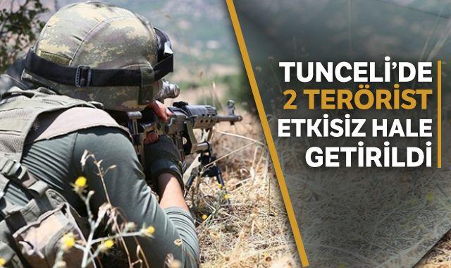 İçişleri Bakanlığı: Tunceli'de 2 terörist etkisiz hale getirildi