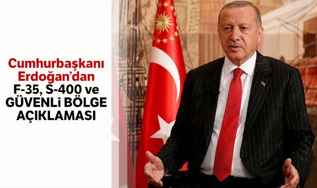 Cumhurbaşkanı Erdoğan Reuters'a konuştu: F-35, S-400 ve Güvenli Bölge açıklaması