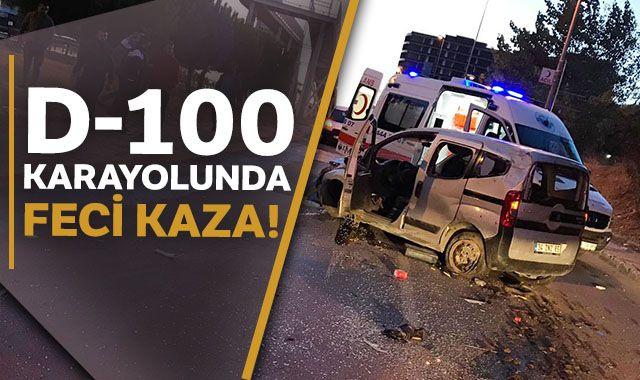 D-100 Karayolunda feci kaza!