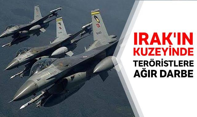 Irak'ın kuzeyine hava harekatı:15 terörist etkisiz hale getirildi