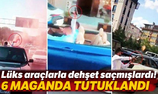 İstanbul'daki düğün konvoyunda terör estiren 6 maganda tutuklandı