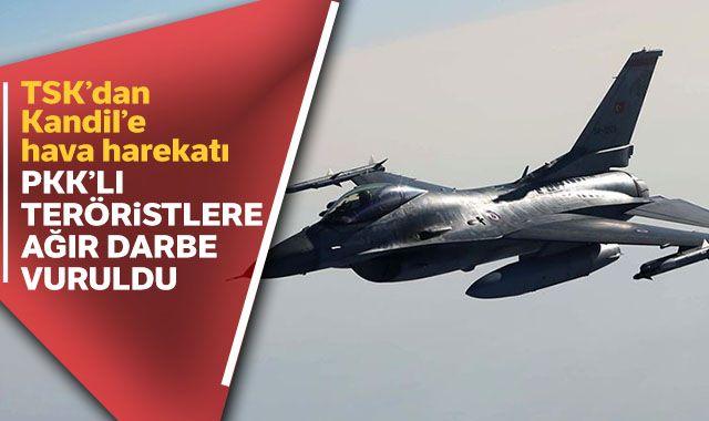 Kandil'e hava harekatı: 4 PKK'lı terörist etkisiz hale getirildi