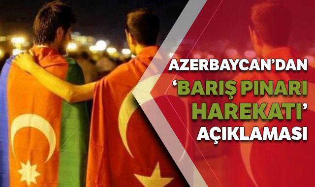 Azerbaycan'dan 'Barış Pınarı Harekatı'na destek