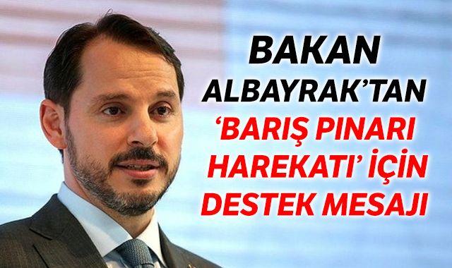 Bakan Albayrak'tan 'Barış Pınarı Harekatı' için destek mesajı