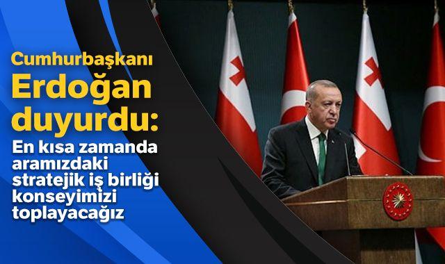 Cumhurbaşkanı Erdoğan ile Gürcistan Başbakanı Gakharia'dan ortak basın toplantısı